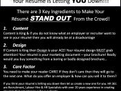 12 June 17 resume advert